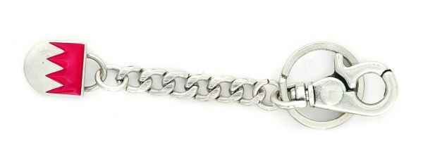 Schlüsselanhänger fränkischer Rechen silber