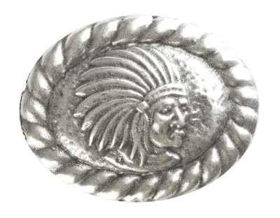 Gürtelschliesse: Indianer 7,5 x 6 cm 40 mm