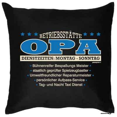 Kissen mit Füllung: Betriebsstätte Opa?