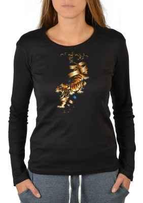Langarmshirt Damen: Tiger