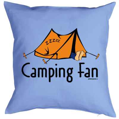 Kissenbezug: Camping Fan
