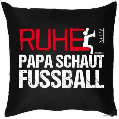 Kissen mit Füllung: Ruhe! Papa schaut Fussball
