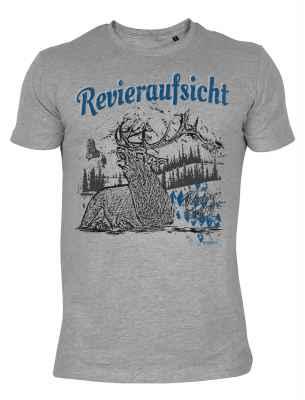 Shirt mit Hirschmotiv: Revieraufsicht