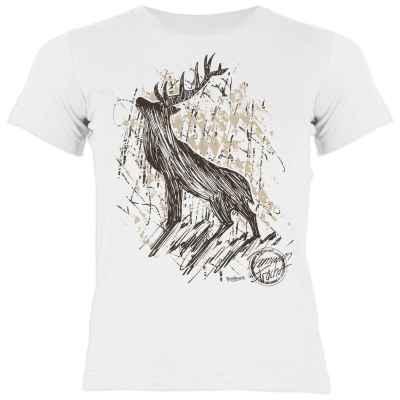 Trachten Shirt Mädchen: Hirsch - Premium Tracht