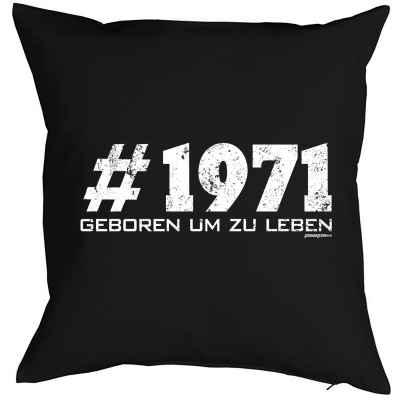 Kissen mit Füllung: #1971 geboren um zu leben