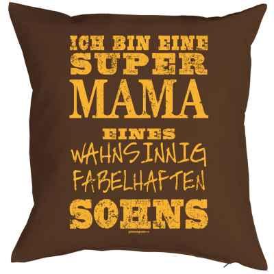 Kissenbezug: ich bin eine super Mama eines wahsinnig fabelhaften Sohns