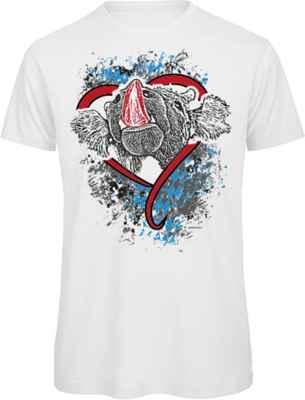 T-Shirt Trachten: Rind Bayern Herz