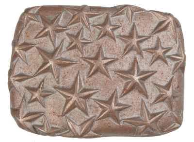 Gürtelschliesse: Stars 7,3 x 5,4 cm 40 mm