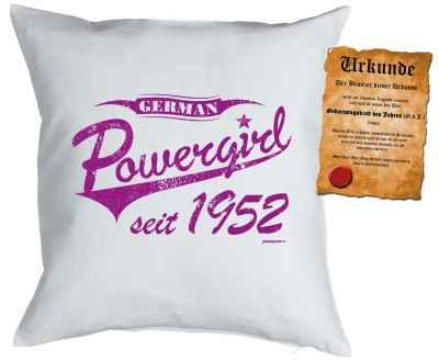 Kissen mit Füllung: German Powergirl seit 1952