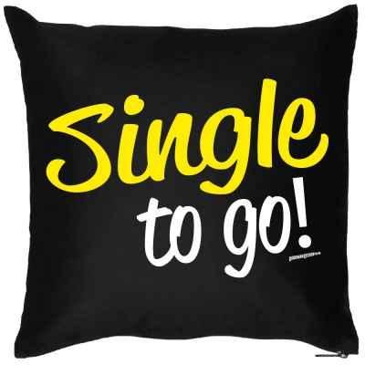 Kissen mit Füllung: Single to go!