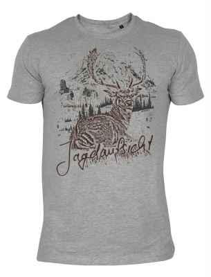 T-Shirt im Trachtenlook: Jagdaufsicht Hirsch