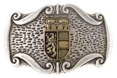 Gürtelschliesse Landeswappen silber 40 mm