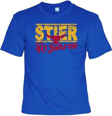 T-Shirt: Stier seit 40 Jahren