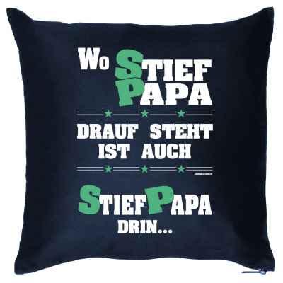 Kissen mit Füllung: Wo Stiefpapa drauf steht, ist auch Stiefpapa drin?