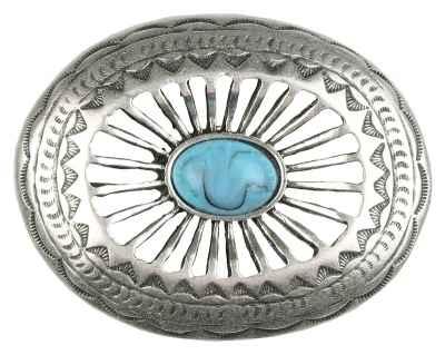 Gürtelschliesse: Ornamente Stein türkis 7 x 5,7 cm 40 mm