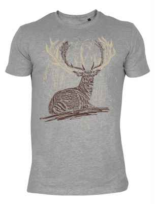 T-Shirt im Trachtenlook: Hirsch liegend