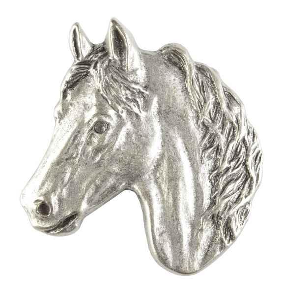 Gürtelschliesse: Pferd 6,3 x 7,2 cm