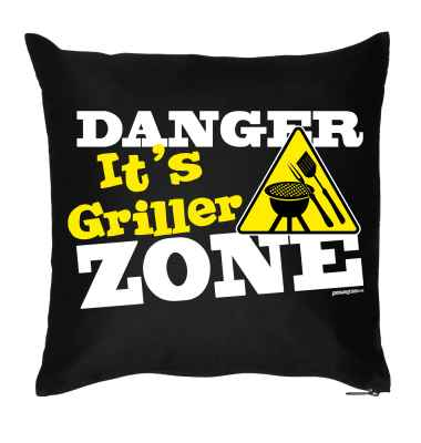 Kissenbezug: Danger - It s Griller Zone