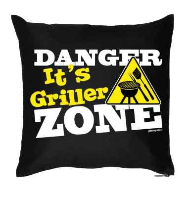 Kissenbezug: Danger - It s Griller Zone