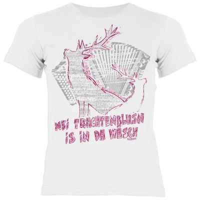Mädchen T-Shirt Tracht: Mei Trachtenblusn is in da Wäsch