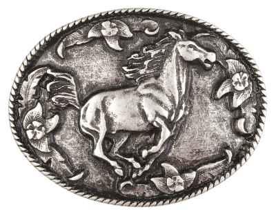 Gürtelschliesse: Pferd 7,7 x 6 cm 40 mm