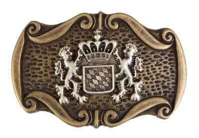 Gürtelschliesse: Landeswappen 8,5 x 5,5 cm