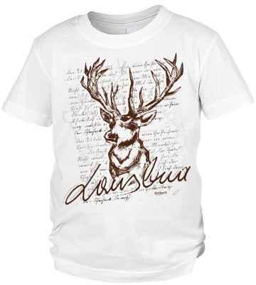 Trachten T-Shirt Jungen: Hirsch Lausbua