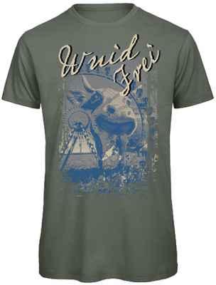 Trachten T-Shirt: Wuid Frei