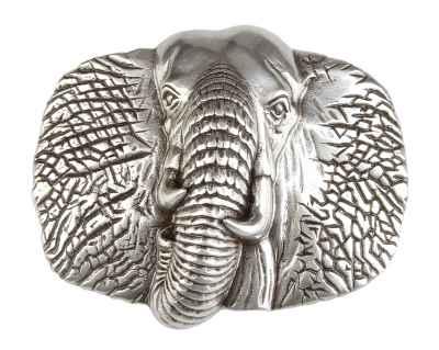 Gürtelschliesse: Elefant 7 x 6 cm