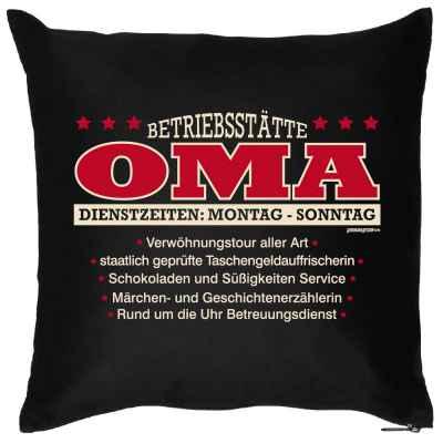 Kissen mit Füllung: Betriebsstätte Oma?