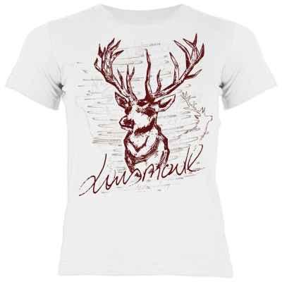 Trachten Kinder T-Shirt: Lausmadl Hirsch