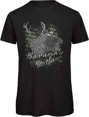 T-Shirt Tracht: Bavarian Outlaw Hirsch
