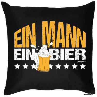 Kissen mit Füllung: Ein Mann ein Bier