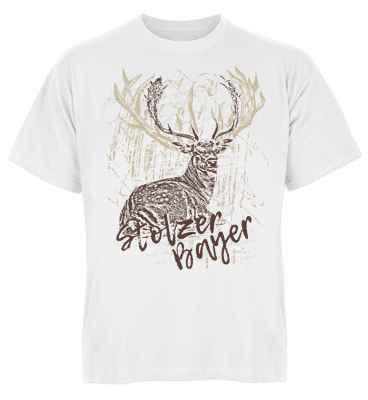 Trachten T-Shirt: Hirsch - Stolzer Bayer