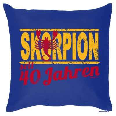 Kissenbezug: Skorpion seit 40 Jahren