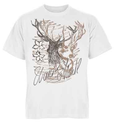Trachten T-Shirt: Hirsch - Wuids Madl