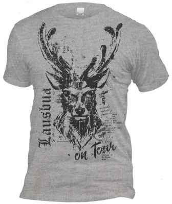 T-Shirt zum Volksfest dunkelgrau: Lausbua on Tour - Hirsch