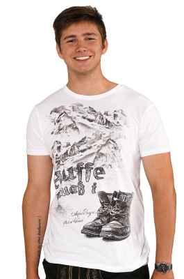 Auffe muaß i Trachten T-Shirt aus Bio Baumwolle