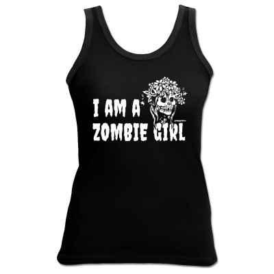 Tank Top Damen: I am a Zombie Girl