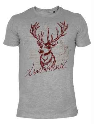 T-Shirt mit Hirschmotiv: Lausmadl
