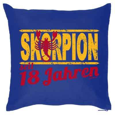 Kissenbezug: Skorpion seit 18 Jahren