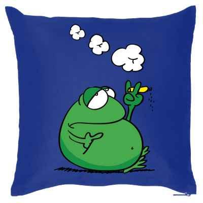 Kissen mit Füllung: rauchender Frosch