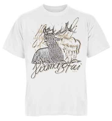 Trachten T-Shirt: Hirsch - Hoamatgfui