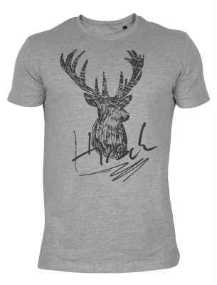 Shirt im Trachtenstil: Hirsch