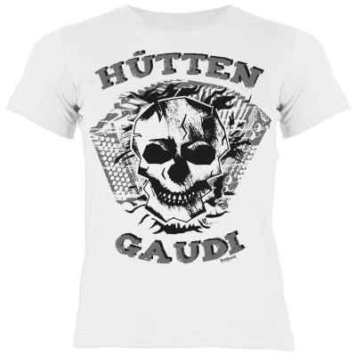 Trachten Mädchen T-Shirt: Hütten Gaudi