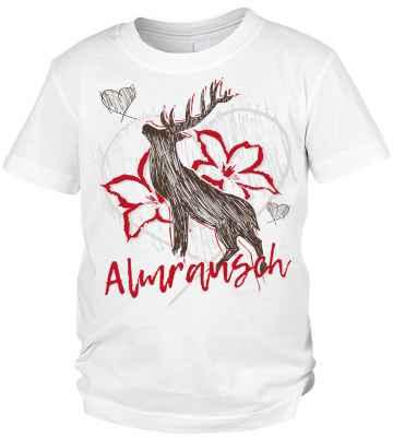 Trachten T-Shirt Jungen: Hirsch Almrausch