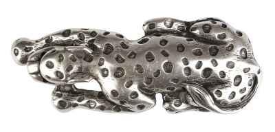 Gürtelschliesse: Raubkatze 14 x 5 cm