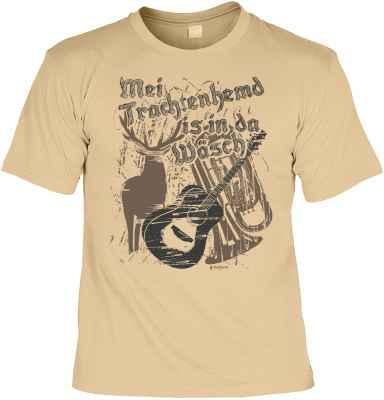 Trachten T-Shirt: Mei Trachtenhemd is in da Wäsch