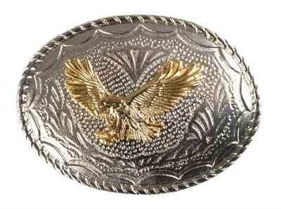 Gürtelschliesse: Adler 8,7 x 6,5 cm