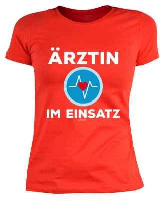 Damen T-Shirt: Ärztin im Einsatz